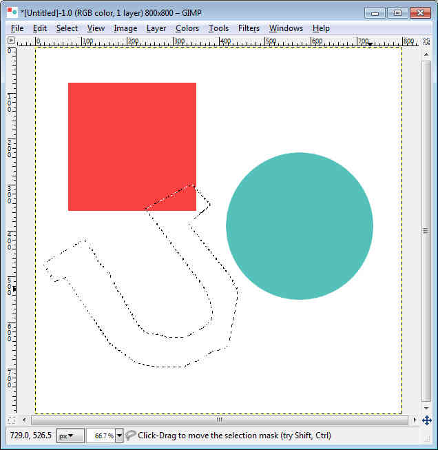 Drawing Lines With Gimp : Gimp beginner complex shapes