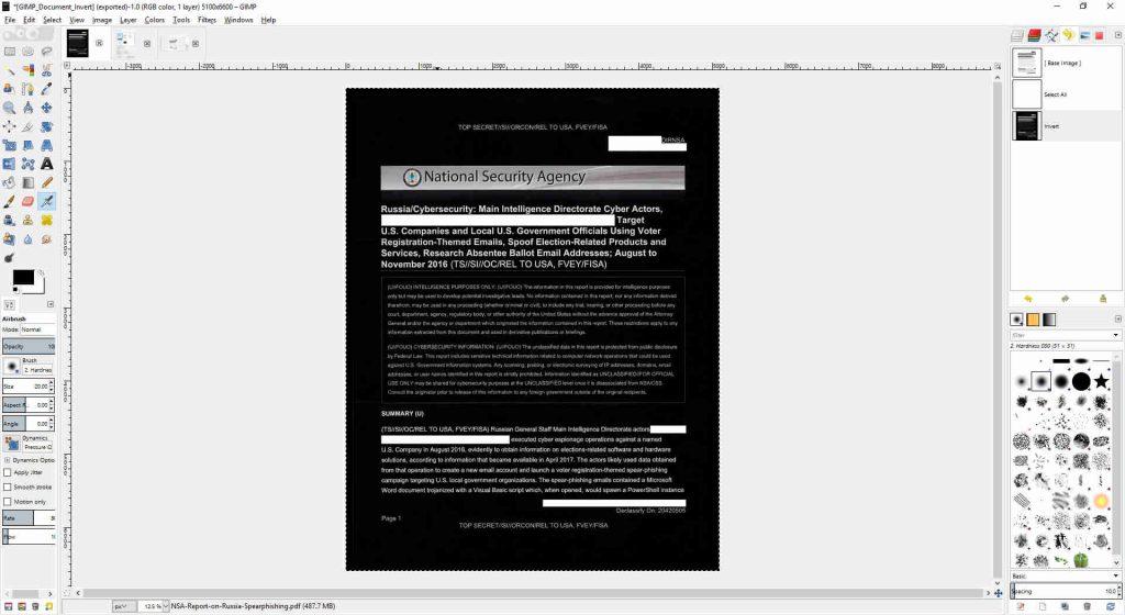 GIMP Document Invert