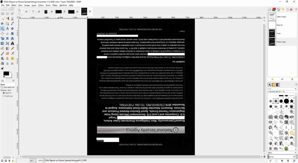 GIMP Document Rotate