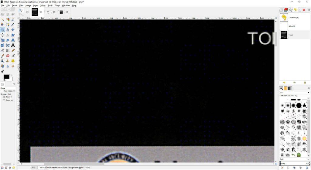 GIMP Document Zoom