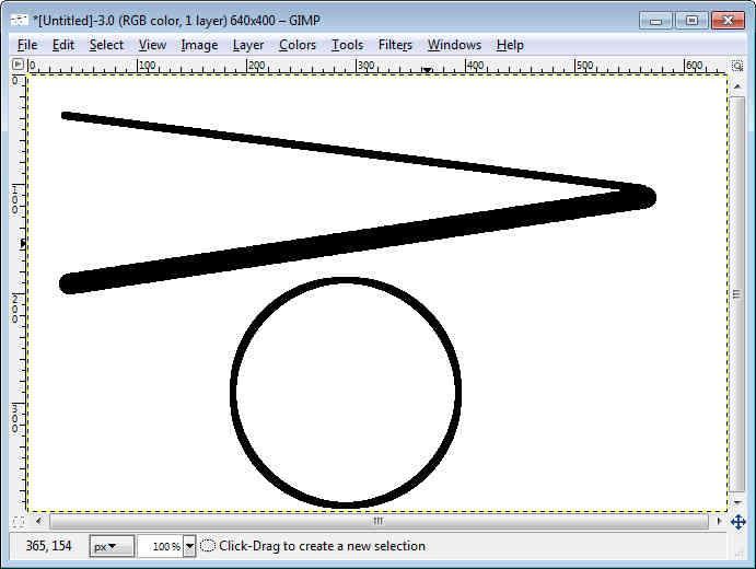 Line Drawing Gimp : Gimp beginner straight line circle zypath